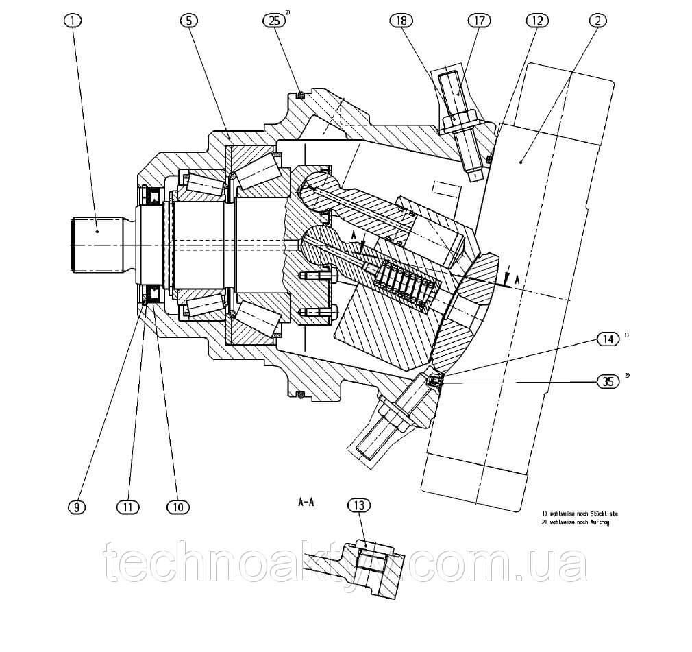 Гидромотор Bosch Rexroth A6VE 107