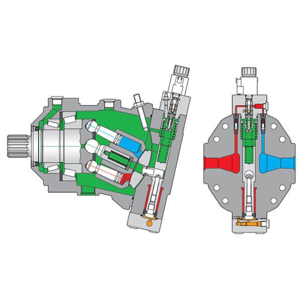 Гидромотор Bosch Rexroth A6VM 107 Фото 2